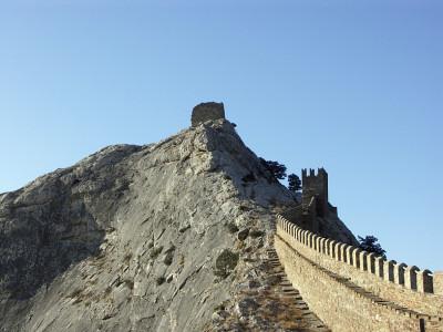 Солнечный Судак и пустынная генуэзская крепость