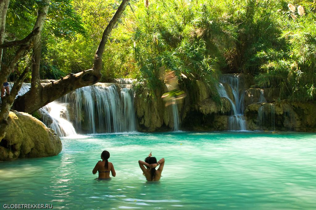 Луангпрабанг. Водопады Куанг Си. 7