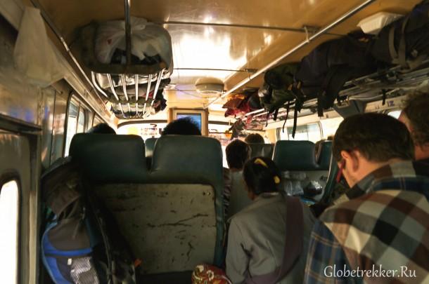 Из Багана на Инле на Bagan bus