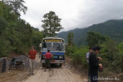 """Из Багана на Инле на """"Bagan bus""""  3"""