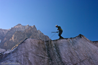 Ледник Чалаади: играем в альпинистов 15