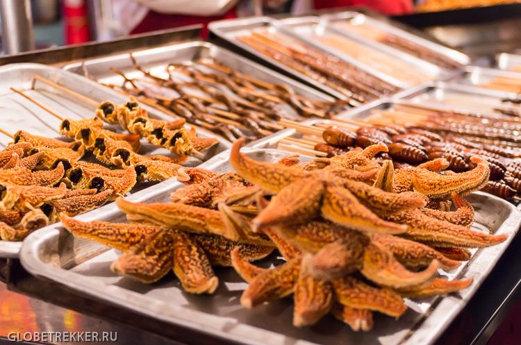 Про пекинскую уличную еду: улица Ванфуцзин и рынок Дунхуамэнь 8