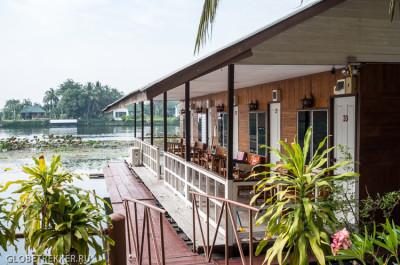 Плавучие отели на реке Квай в Канчанабури 1