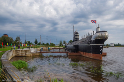 Подводная лодка-музей в Вытегре 3